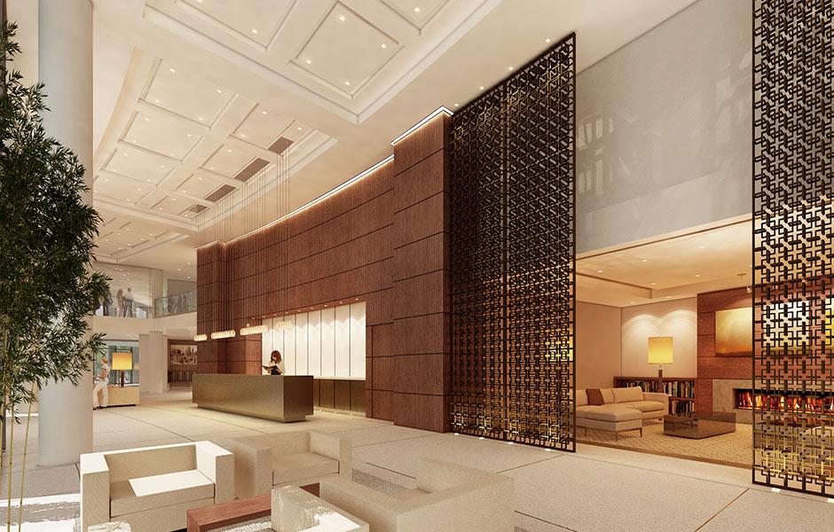 Hotels - One University Circle Lobby - Panzica Construction