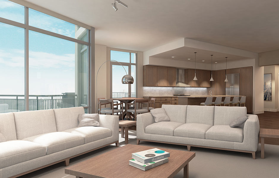 Hotels - One University Circle Penthouse- Panzica Construction