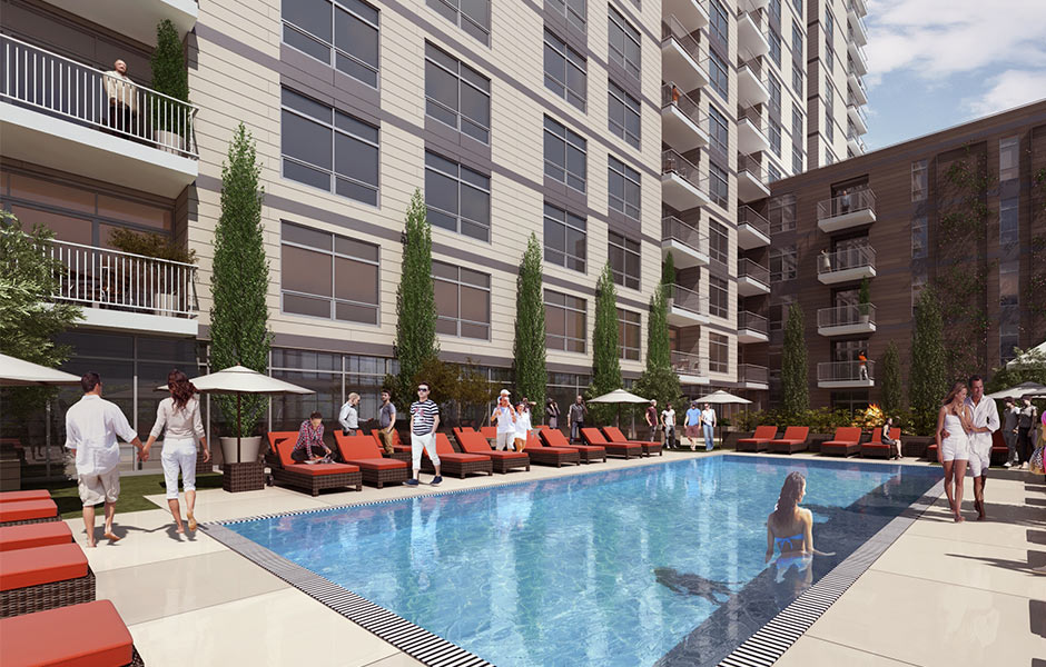 Hotels - One University Circle Pool - Panzica Construction