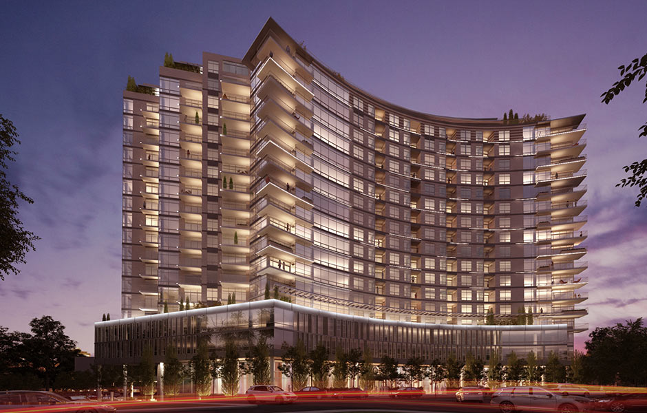 Hotels - One University Circle Night - Panzica Construction