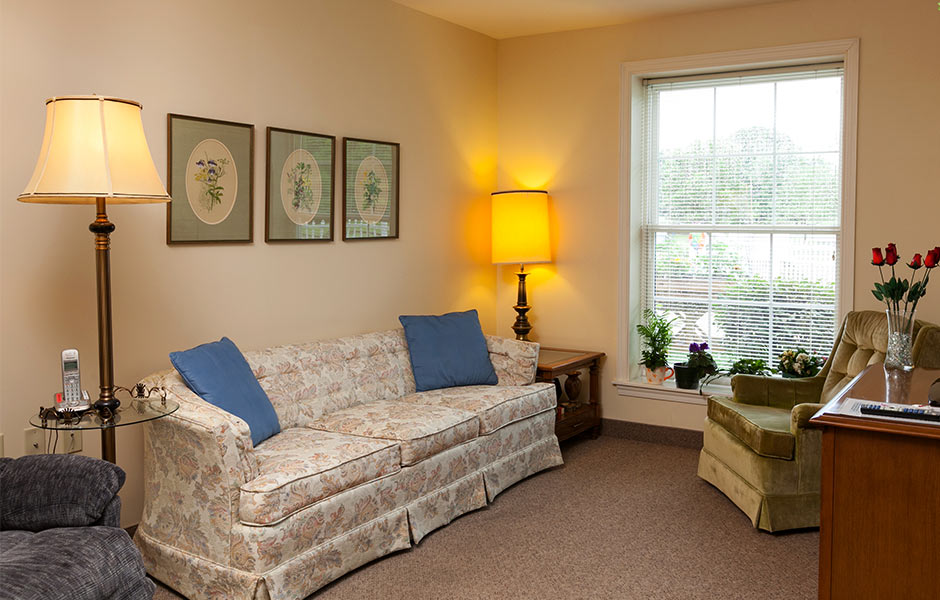 Senior Living - Mount Alverna Village Living Space - Panzica Construction