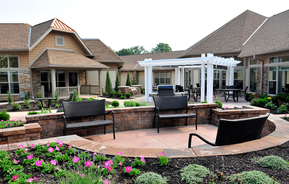 Senior Living - Mt St. Joseph Patio- Panzica Construction