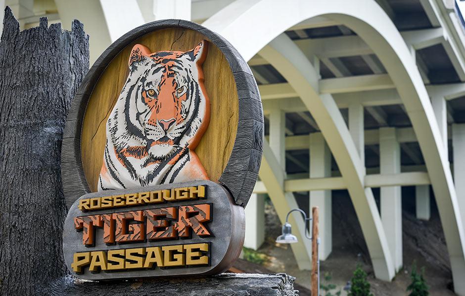 Zoo - Rosebrough Tiger Passage Sign- Panzica Construction